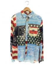 DENIM & SUPPLY RALPH LAUREN(デニム&サプライ ラルフローレン)の古着「総柄ロングスリーブシャツ」 マルチカラー