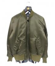 uniforme experiment(ユニフォーム エクスペリメント)の古着「レイヤードMA-1ジャケット」|オリーブ