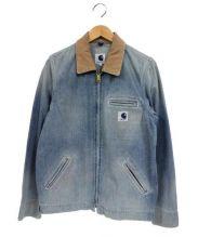 Ron Herman×CarHartt(ロンハーマン×カーハート)の古着「ダメージ加工デニムジャケット」|インディゴ
