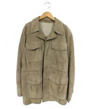 dunhill(ダンヒル)の古着「スウェードジャケット」|ブラウン