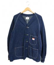 CAL O LINE(キャル オー ライン)の古着「ネップ加工カバーオール」|インディゴ