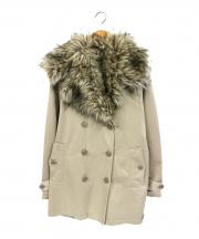 Denim & Supply Ralph Lauren(デニムアンドサプライ ラルフローレン)の古着「ファー付トレンチコート」|ベージュ