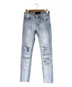 STAMPD(スタンプド)の古着「クラッシュスキニーデニム」|ブルー