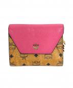MCM(エムシーエム)の古着「3つ折り財布」|ピンク×ブラウン