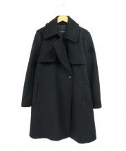 green label relaxing(グリーンレーベルリラクシング)の古着「カシミヤ混デザインPコート」|ブラック