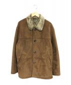 ELSPIA COLLECTION(エルスピアコレクション)の古着「ムートンジャケット」|ブラウン