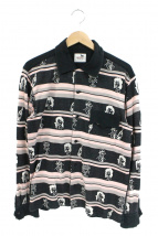 GANGSTERVILLE(ギャングスターヴィル)の古着「総柄オープンカラーシャツ」