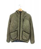 ALPHA×LEE(アルファ×リー)の古着「フード付キルティングジャケット」|オリーブ