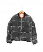 CAPLANENTWISLE(カプラネットウィズル)の古着「パッチワークボンバージャケット」 グレー