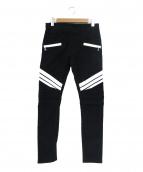 BALMAIN(バルマン)の古着「バイカーパンツ」|ホワイト×ブラック
