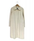 BURBERRY LONDON(バーバリーロンドン)の古着「アンゴラ混ロングコート」|ホワイト