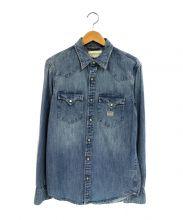 Denim & Supply Ralph Lauren(デニムアンドサプライ ラルフローレン)の古着「USED加工デニムウエスタンシャツ」