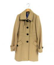BURBERRY BLUE LABEL(バーバリーブルーレーベル)の古着「アンゴラ混コート」