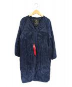 ALPHA(アルファ)の古着「ノーカラーキルティングコート」