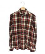 Errico Formicola(エリコフォルミコラ)の古着「コットンチェックシャツ」|レッド×ベージュ