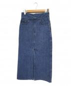 MACPHEE(マカフィー)の古着「コットンデニムIラインロングスカート」