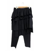BLACK COMME des GARCONS(ブラックコムデギャルソン)の古着「レイヤードパンツ」|ブラック