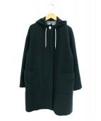 miroir de ensuite(ミロワール ドゥ エンスィート)の古着「メランジビーバーフードコート」|グリーン