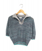 tiit tokyo(ティートトウキョウ)の古着「半袖襟付ニット」|グリーン