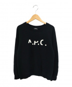 A.P.C(アーペーセー)の古着「刺繍スウェット」|ブラック
