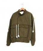 Maison Margiela10(メゾンマルジェラ10)の古着「ロープデザインボンバージャケット」|オリーブ
