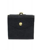 IL BISONTE(イルビゾンテ)の古着「がま口2つ折財布」|ブラック