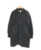 YSTRDY'S TMRRW(イエスタデイズトゥモロウ)の古着「デニムロングコート」|グレー