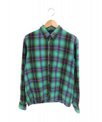 SUPREME(シュプリーム)の古着「Shadow Plaid Flannel Shirt」|グリーン×パープル