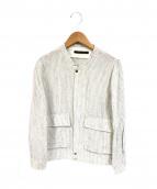 Fabiane Roux(ファビアンルー)の古着「ストライプリネンジャケット」|ホワイト