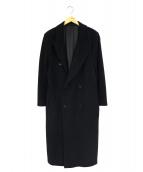 HUGO BOSS(ヒューゴボス)の古着「ウールカシミヤコート」|ブラック