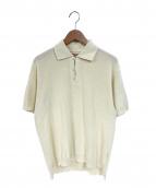 NITEKLUB&Co.(ナイトクラブアンドコー)の古着「半袖ニットポロシャツ」|アイボリー