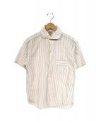 OLD JOE&CO.(オールドジョーアンドコー)の古着「半袖POワークシャツ」 アイボリー