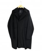 NUMERALS(ヌメラルズ)の古着「ステンカラーコート」|ブラック