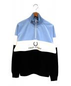 FRED PERRY(フレッドペリー)の古着「ハーフジップスウェット」|マルチカラー