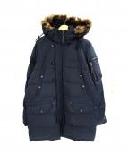 INTERMEZZO(インターメッツォ)の古着「ダウンライナーフーデッドジャケット」|ブラック