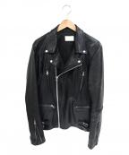 LHP(エルヘイチピ)の古着「ダブルライダースジャケット」 ブラック