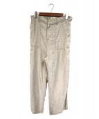 BEAMS BOY(ビームスボーイ)の古着「リネンベイカーパンツ」|ベージュ