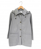 MHL.(エムエイチエル)の古着「コットンフード付きステンカラーコート」|グレー