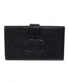 CHANEL(シャネル)の古着「ココマークキャビアスキンがま口2つ折財布」