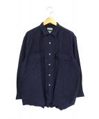 COMME des GARCONS HOMME(コムデギャルソンオム)の古着「90sドットオープンカラーシャツ」