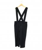 BLACK COMME des GARCONS(ブラックコムデギャルソン)の古着「吊りパンツ」|ブラック