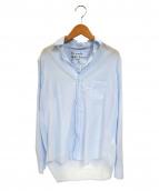Frank & Eileen(フランクアンドアイリーン)の古着「ライトポプリンEILEENシャツ」 ブルー