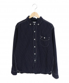 Pherrows(フェローズ)の古着「インディゴストライプBDシャツ」