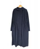 BEAUTY&YOUTH(ビューティアンドユース)の古着「ナイロンコットンフードロングコート」|ネイビー