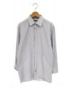 LOUIS VUITTON(ルイ・ヴィトン)の古着「シャツ」 ホワイト×グレー