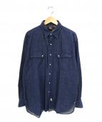RRL(ダブルアールエル)の古着「デニムウエスタンロングシャツ」