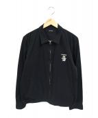 RUDE GALLERY(ルードギャラリー)の古着「音刺繍スーベニアブルゾン」|ブラック