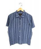 RATS(ラッツ)の古着「ピンチェック半袖オープンカラーシャツ」 ブルー