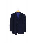 DANIEL CREMIUX(ダニエルクレミュ)の古着「ロロピアーナ背抜きテーラードジャケット」 ネイビー