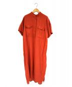 TICCA(ティッカ)の古着「スタンドネックワンピース」|オレンジ